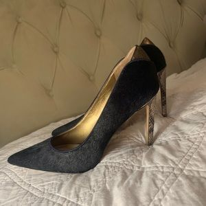 Sam Edelman Blue Dea Pony Hair Heel